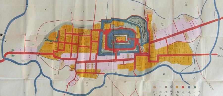 棚倉城跡図