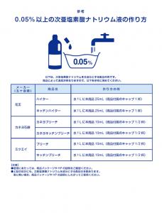 『0.05%以上の次亜塩素酸ナトリウム液の作り方』の画像